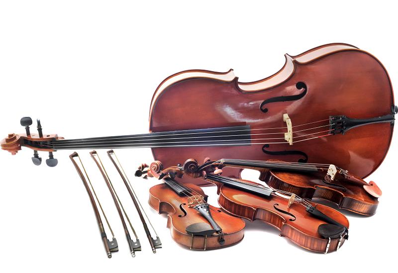 Différente tailles de violons